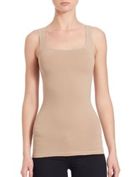 Theory Len Tubular Stretch Jersey Tank Top White Black Nude