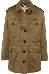 Burberry Cotton Sateen Jacket Army Green