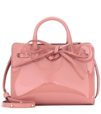 Mansur Gavriel Mini Mini Sun Patent Leather Tote Pink