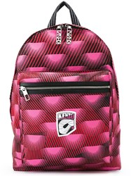 Kenzo 'Nagai Star' Backpack Pink And Purple