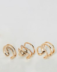 New Look Multi Pack Of Stacking Rings Gold