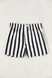 Happy Socks Angled Stripe Boxer Black And White