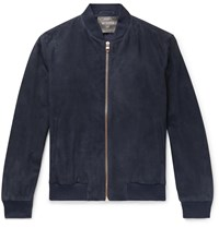 Private White V.C. Suede Bomber Jacket Blue