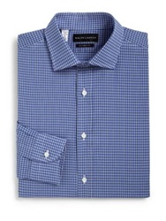 Ralph Lauren Black Label Tailored Fit Check Dress Shirt Blue