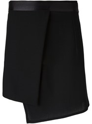 Ann Demeulemeester Asymmetrical Wrap Skirt Black