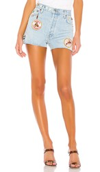 Re Done Classic Embellished Short. Light