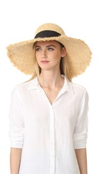 Kate Spade Cinched Bow Sunhat Black