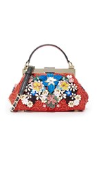 Alice Olivia Lace Floral Mini Scarlet Bag Red