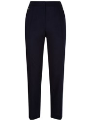 Jaeger Linen Cotton Crop Trousers Midnight