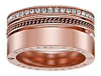 Michael Kors Brilliance Pav Crystal Open Twist Ring Rose Gold Ring