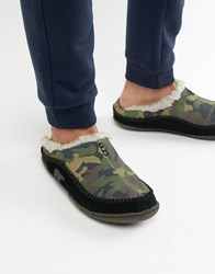 Sorel Falcon Ridge Slippers In Camo Green