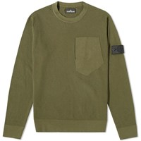 Stone Island Shadow Project Pure Cotton Crew Knit Green
