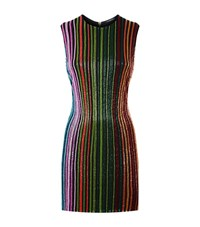 Balmain Beaded Stripe Dress Female Multi