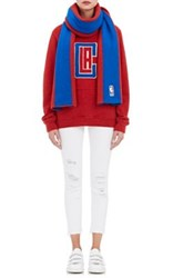 The Elder Statesman X Nba Women's Los Angeles Clippers Cashmere Reversible Scarf Red