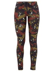 The Upside Jungle Camouflage Print Performance Leggings Camouflage
