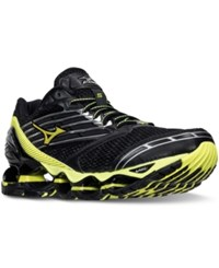 Mizuno Men's Wave Prophecy 5 Running Sneakers From Finish Line Black Safety Yellow Silve