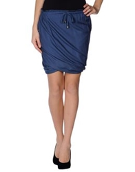 Ice Iceberg Knee Length Skirts Dark Blue