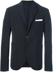 Neil Barrett Patch Pocket Blazer Blue