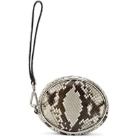 Alexander Wang Black And White Snake Halo Wristlet Pouch