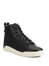 Diesel Caviar Tempus Diamond Leather Sneakers Black