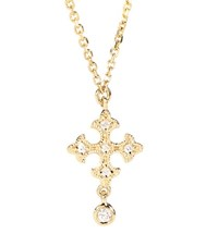 Stone Paris Passion Simple 18Kt Yellow Gold Necklace With White Diamonds