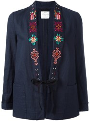 Forte Forte Embroidered Blazer Blue