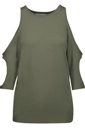 Bailey 44 Mahale Cutout Stretch Jersey Top Army Green