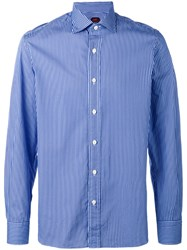 Massimo Piombo Mp Striped Shirt Blue