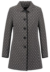 Comma Short Coat Grey Black