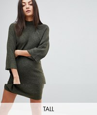 Noisy May Tall High Neck Knitted Dress Ivy Green