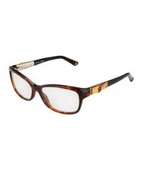 Gucci Cat Eye Acetate Eyeglasses Brown
