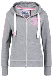 Superdry Track And Field Tracksuit Top Empire Grey Marl