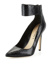 Via Spiga Fey Snakeskin Pump Black