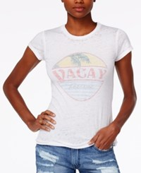Project Social T Vacay Forever Graphic Shirt Burnout White