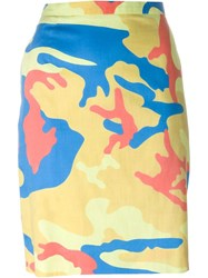 Stephen Sprouse Vintage Andy Warhol Camouflage Print Skirt Multicolour