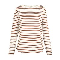 Fat Face Breton Stripe Top Bronze