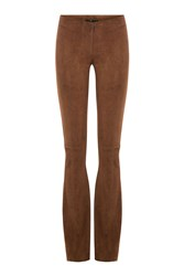 Sly010 Suede Flared Pants Brown