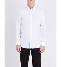 Tommy Hilfiger Oxford Slim Fit Stretch Cotton Shirt Classic White