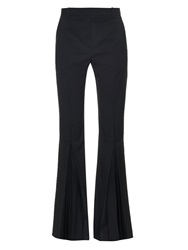 Jonathan Saunders Polly High Rise Kick Flare Wool Trousers
