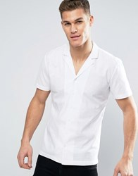 Minimum Luca Short Sleeve Shirt Revere Collar In White White