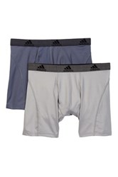 Adidas Sport Performance Relaxed Boxer Brief Pack Of 2 Gray