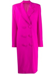Attico Double Breasted Coat Pink