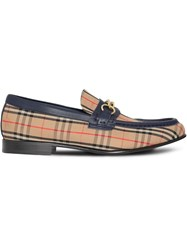 Burberry 1983 Check Link Loafers Yellow And Orange
