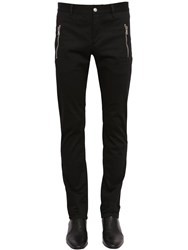 Balmain Tapered Cotton Chino Pants Black