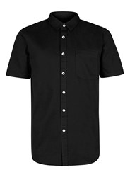 Topman Black Denim Short Sleeve Shirt