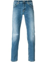 Dondup Stone Washed Skinny Jeans Blue