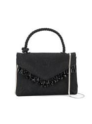 Dries Van Noten Mini Bag With Top Handle And Beaded Embellishment Black