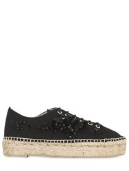 Sarah Summer 30Mm Embellished Canvas Espadrilles