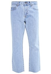 Dr. Denim Dr.Denim Meadow Straight Leg Jeans Orangic Light Retro Raw Light Blue Denim
