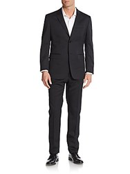 Moschino Regular Fit Stretch Wool Suit Grey